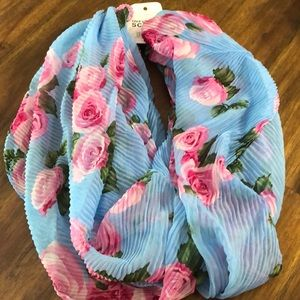 Brand new floral infinity scarf roses